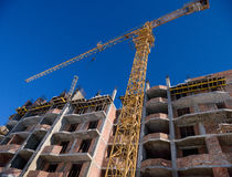 Crane site construction Royalty Free Stock Photography