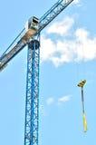Isolated crane on site Stock Photo