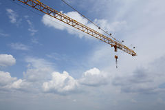 Crane & sky. Crane on background sky and cloud Royalty Free Stock Image