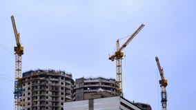 Crane sky building p2 Royalty Free Stock Photo