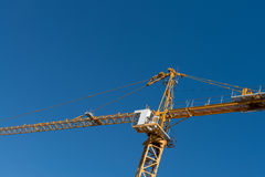 Crane in sky Royalty Free Stock Image