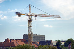 Crane and skyline Royalty Free Stock Images