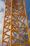 Crane stair frame on blue sky Stock Photo