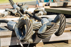 Crane Steel Cable Loops Lizenzfreie Stockbilder