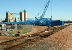 Crane Stockyard Royalty Free Stock Images