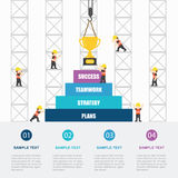 Crane and success building. Infographic Template. Vector Illustration vector illustration
