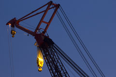 Crane at sunset Stock Photography