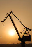 Crane at Sunset Stock Photos