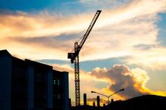 Crane on sunset Stock Photo