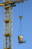 Crane with a suspended load Royalty Free Stock Image