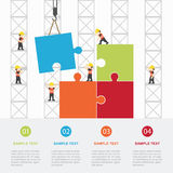 Crane and team building. Infographic Template. Vector Illustration vector illustration