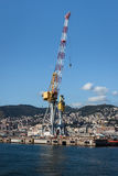 Crane in teh port of Genoa, Italy Stock Photography