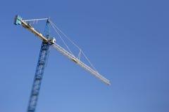 Crane tilt shift Royalty Free Stock Photo