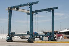 Crane to move yachts Stock Image