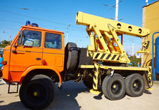 Crane tow truck Royalty Free Stock Images