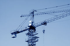 Crane tower construction equipment Royalty Free Stock Photos