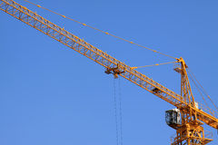 Crane tower construction equipment Royalty Free Stock Images