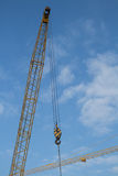 Crane, tower crane. Tower crane is one of the most commonly used lifting equipment at the construction site, with a quarter section of extension (high), seems to Stock Photos