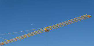 Crane, tower crane. Tower crane is one of the most commonly used lifting equipment at the construction site, with a quarter section of extension (high), seems to Royalty Free Stock Photo
