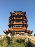 Crane Tower jaune chinois image libre de droits