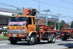 Crane Truck av provinsiell eletricitymyndighet av Thailands Arkivfoton