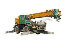 Crane truck with clipping path Stock Image