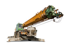 Crane truck with clipping path Stock Photography