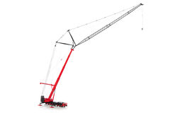 Crane truck isolated on white backgroung Stock Images