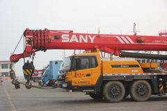 Crane truck by SANY company production Stock Photo