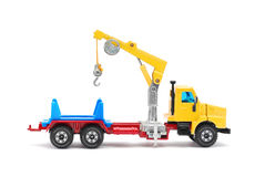 Crane truck toy Royalty Free Stock Image