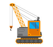 Crane truck vector illustration Stock Images