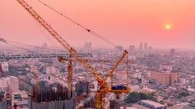 Crane in twilight Stock Photography
