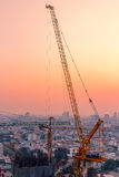 Crane in twilight Royalty Free Stock Images
