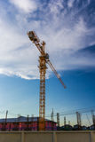 Crane under blue sky Royalty Free Stock Images