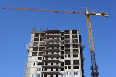 Crane and under construction building Stock Image
