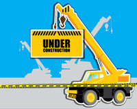 Crane with Under construction vector Stock Photography