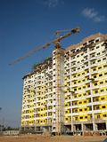 Crane and unfinished building Stock Photography