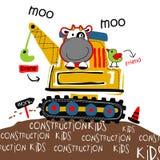 Crane vector. Cartoon vector for wallpaper wall Stock Image