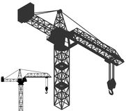 Crane vehicle structure silhouette pack  Stock Image