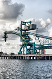 Crane at Ventspils royalty free stock image
