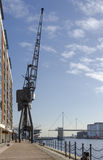 Crane at Victoria Dock Stock Image