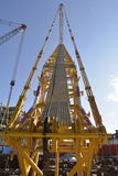 Crane. The View along the maine boom of a 600 tonne crane Stock Images