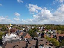 Crane View City stock afbeelding