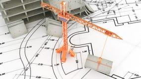 Crane on white Stock Images