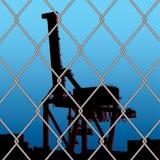 Crane wire fence Stock Photo