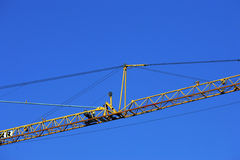 Crane at work Royalty Free Stock Images