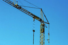 Crane at work Royalty Free Stock Image