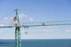 Crane work. Central part of a crane work Stock Image