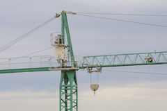 Crane work. NMotor and central part of a crane work stock photography