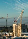 Crane Work Stock Photo